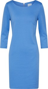 Niebieska sukienka Vila z długim rękawem z dżerseju mini