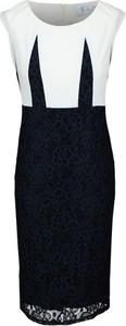 Sukienka Fokus bez rękawów z okrągłym dekoltem midi