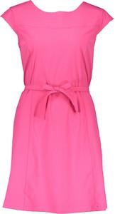 Różowa sukienka CMP z krótkim rękawem w stylu casual mini