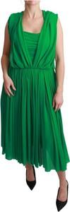 Zielona sukienka Dolce & Gabbana maxi