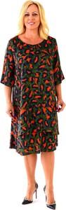 Sukienka Roxana - sukienki z tkaniny z długim rękawem