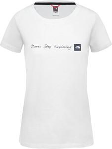 Bluzka The North Face z krótkim rękawem w sportowym stylu z okrągłym dekoltem