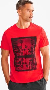 Czerwony t-shirt ANGELO LITRICO z bawełny w młodzieżowym stylu