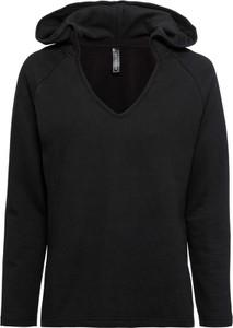 Czarna bluza bonprix RAINBOW w stylu casual z dresówki