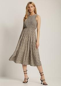 Sukienka Renee midi bez rękawów z okrągłym dekoltem