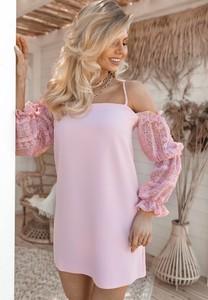 Sukienka SELFIEROOM z długim rękawem prosta w stylu casual