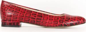 Baleriny Zapato z płaską podeszwą ze skóry