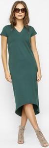 Zielona sukienka Freeshion z krótkim rękawem midi oversize