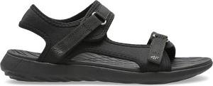 Czarne sandały 4F z płaską podeszwą