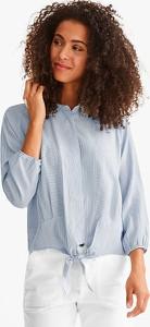 Niebieska bluzka YESSICA z długim rękawem