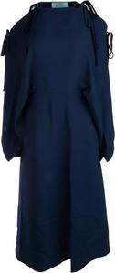 Sukienka Prada z okrągłym dekoltem w stylu casual mini