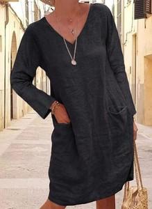 Sukienka Cikelly z dekoltem w kształcie litery v w stylu casual