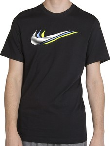 Czarny t-shirt Nike w sportowym stylu z bawełny