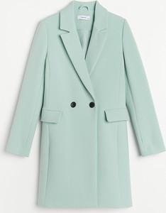 Turkusowy płaszcz Reserved