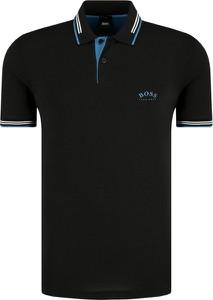 Czarna koszulka polo Boss Athleisure z krótkim rękawem