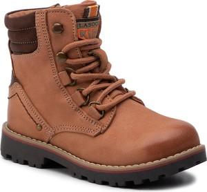 Pomarańczowe buty dziecięce zimowe Lasocki Kids
