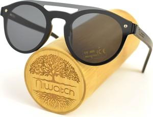 Drewniane okulary przeciwsłoneczne Niwatch Volans Black