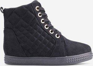Granatowe buty sportowe Yourshoes sznurowane