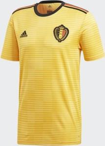Żółta koszulka dziecięca Adidas z krótkim rękawem
