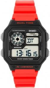 5dd81e34a3334d ZEGAREK MĘSKI Skmei 1299 Dual Time - Czarny | Czerwony