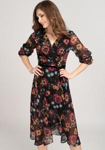 Sukienka VISSAVI kopertowa z długim rękawem
