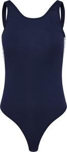 Niebieska bluzka Tommy Hilfiger Underwear z tkaniny z okrągłym dekoltem w stylu casual