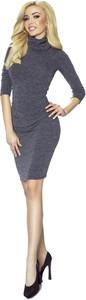 Sukienka Ptakmoda.com dopasowana w stylu casual z golfem