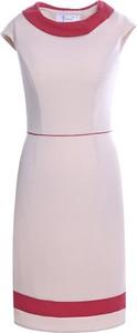 Sukienka Fokus midi w stylu klasycznym z krótkim rękawem