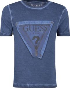 Niebieska koszulka dziecięca Guess