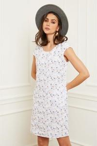 Sukienka Fleur De Lin z lnu z krótkim rękawem w stylu casual
