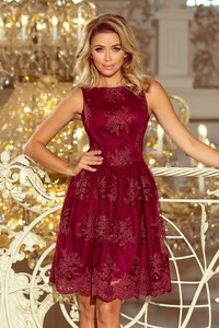 Czerwona sukienka NUMOCO mini bez rękawów