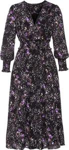 Sukienka bonprix maxi z dekoltem w kształcie litery v