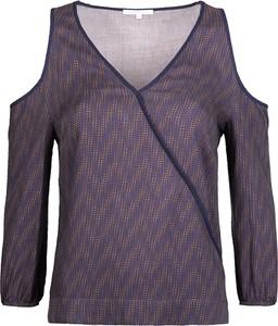 Granatowa bluzka Patrizia Pepe z długim rękawem
