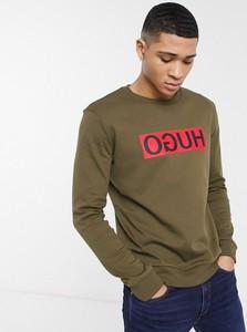 Brązowa bluza Hugo Boss w młodzieżowym stylu z dresówki