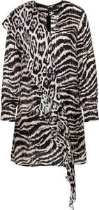 Sukienka Just Cavalli z dekoltem w kształcie litery v w stylu casual z długim rękawem