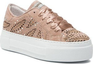 Sneakersy Togoshi w młodzieżowym stylu z zamszu sznurowane