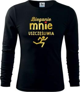 Bluzka TopKoszulki.pl z bawełny z długim rękawem