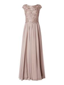 Różowa sukienka Luxuar maxi