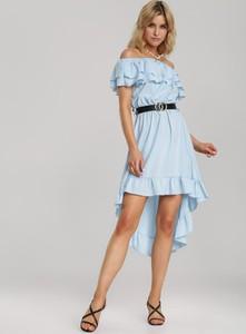 Niebieska sukienka Renee z krótkim rękawem mini