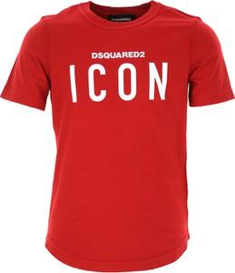 Czerwona koszulka dziecięca Dsquared2