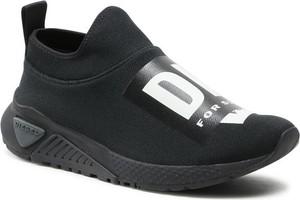 Czarne buty sportowe Diesel w sportowym stylu