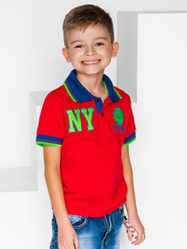 Czerwona koszulka dziecięca Ombre Clothing