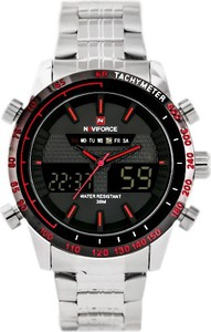 ZEGAREK MĘSKI NAVIFORCE - CONVAIR - DUAL TIME (zn014c) - Srebrny