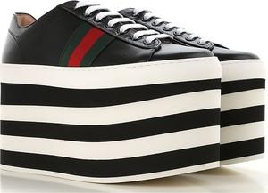 Trampki Gucci w stylu casual ze skóry na platformie