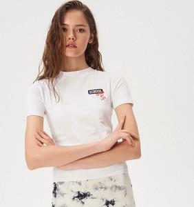 T-shirt Sinsay w stylu casual z okrągłym dekoltem