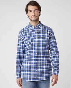 Niebieska koszula Wrangler z klasycznym kołnierzykiem