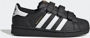 Czarne buty sportowe dziecięce Adidas Originals superstar na rzepy