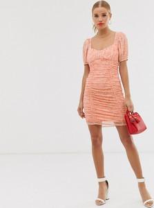 Sukienka Asos Design mini z krótkim rękawem