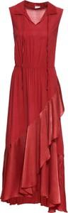 Sukienka bonprix BODYFLIRT bez rękawów z dekoltem w kształcie litery v