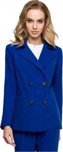 Niebieska marynarka Style krótka